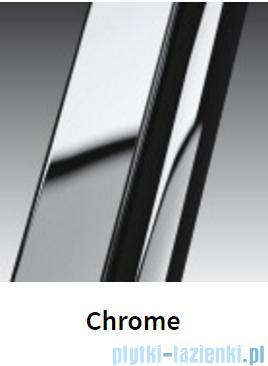 Novellini Drzwi do wnęki z elementem stałym GIADA G+F 96 cm prawe szkło przejrzyste profil chrom GIADNGF96D-1K