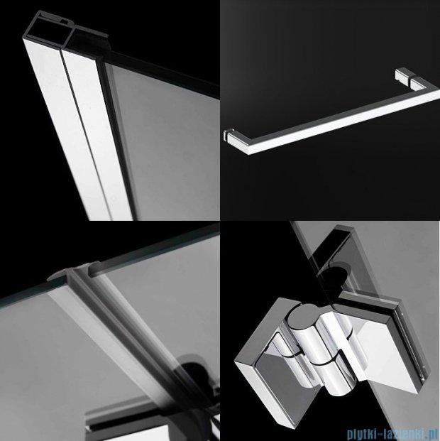 Radaway Carena Kdj Kabina prostokątna 120x90 lewa szkło przejrzyste + brodzik Argos D + syfon 34443-01-01NL