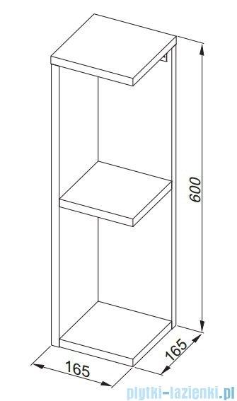 Aquaform Flex szafka wisząca narożnikowa biała 0410-640109