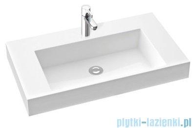 Marmorin Teo 800 umywalka wisząca 80x45 z otworem przelewowym i z bez otworu na baterie biała 641080020210