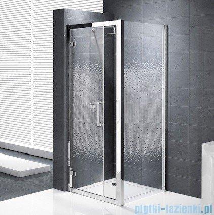 Novellini Elysium Kuadra G Drzwi obrotowe 76cm szkło przejrzyste profil chrom KUADG76-1K