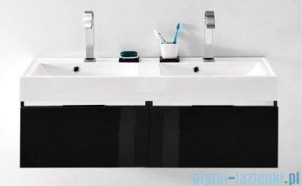 Antado Cantare szafka z umywalką 120x50x33 czarny połysk 2xFSM-342/6GT-48/48 + UNAM-1204D