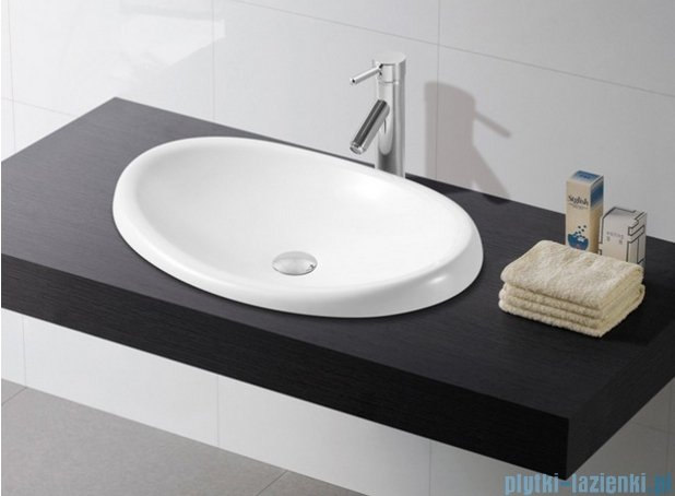 Bathco umywalka blatowa Ellipse 62x37 cm 4022