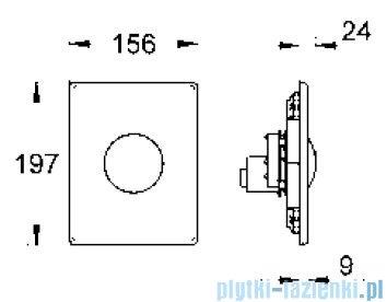 Grohe Skate przycisk uruchamiający kolor: chrom mat   38573P00
