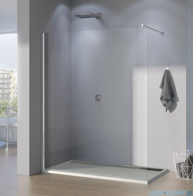 SanSwiss Pur PDT4P Ścianka wolnostojąca 140cm profil chrom szkło Pas satynowy PDT4P1401051