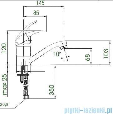 KFA PIRYT Bateria umywalkowa stojąca 442-945-00