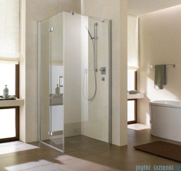 Kermi Diga Ściana boczna, szkło przezroczyste, profile biel 90x200cm DITWD090202AK