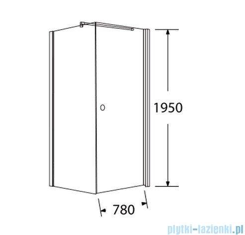 Sea Horse Fresh Line kabina kwadratowa z powłoką drzwi pojedyncze Prawa 80x80 cm   BK259/1TP+