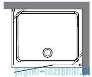 Kerasan Kabina prostokątna lewa, szkło przejrzyste profile chrom 80x96 Retro 9142T0