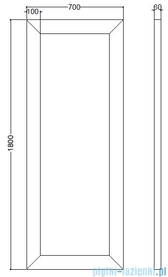 Kerasan Retro Lustro z ramą koloru srebrnego 70x180 cm 7366