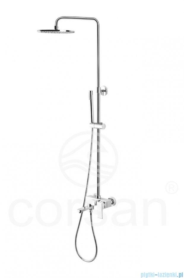 Corsan Feira kolumna prysznicowa z wylewką chrom SC-8023