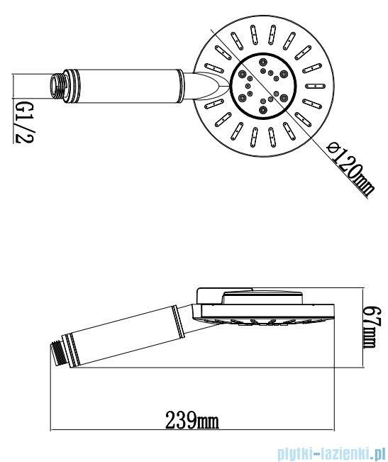 Omnires rączka prysznicowa 3-funkcyjna chrom/biel NEVADA-R