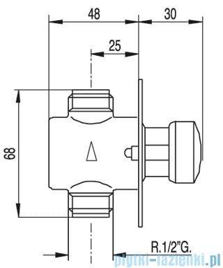 Tres Tempotres Bateria natryskowa podtynkowa 1.12.177