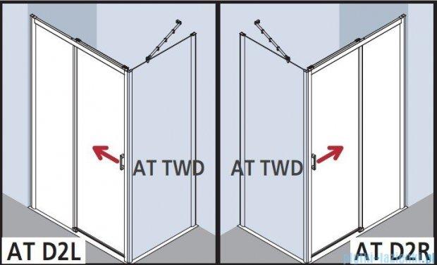 Kermi Atea Drzwi przesuwne bez progu, lewe, szkło przezroczyste, profile srebrne 130x200 ATD2L13020VAK