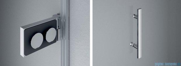 SanSwiss PUR PU31P drzwi lewe 120x200cm cieniowane czarne PU31PG1201055