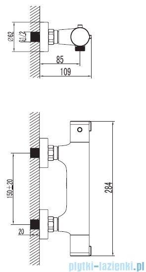 Art Platino Term bateria prysznicowa termostatyczna chrom TER-BPKT.030C
