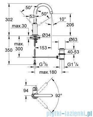 Grohe Atrio bateria umywalkowa DN 15 chrom 32042001