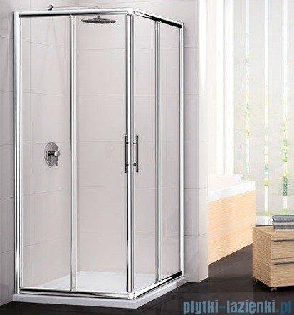 Novellini Ścianka Kabiny prysznicowej LUNES 90 cm szkło przejrzyste profil srebrny LUNESA90L-1B