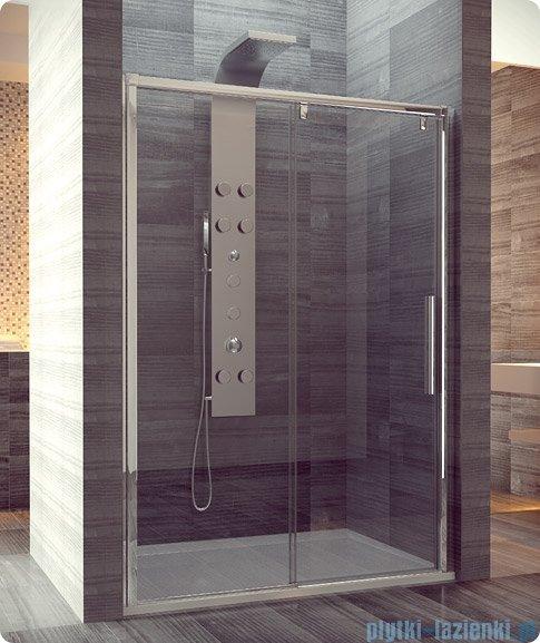 SanSwiss Pur Light S PLS2 Drzwi rozsuwane 140cm profil biały szkło przejrzyste Lewe PLS2G1400407