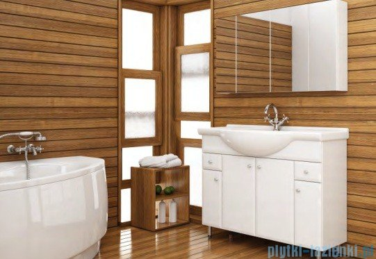 Aquaform Dallas szafka wisząca z lustrem 105cm biały 0408-530125