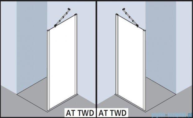 Kermi Atea Ściana boczna, szkło przezroczyste, profile srebrne 120x200cm ATTWD12020VAK