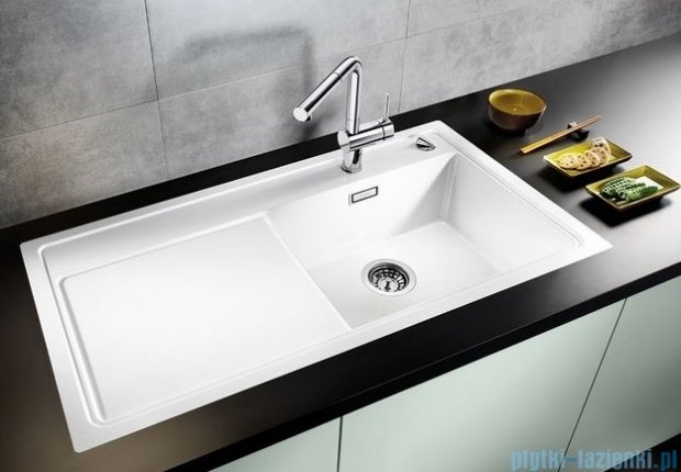 Blanco Zenar XL 6 S-F  Zlewozmywak Silgranit PuraDur komora prawa kolor: biały z kor. aut. i szklaną deską do krojenia 519310