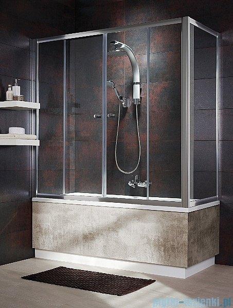 Radaway Vesta DWD+S Parawan nawannowy 150x80cm szkło fabric 203150-06/204080-06