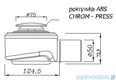 Syfon brodzikowy klik-klak Speed Akces czyszczony od góry fi 50 chrom 19238