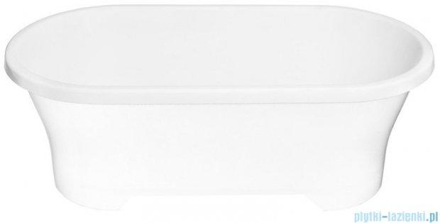 Polimat Amona solid surface wanna wolnostojąca 150x75 cm biała 00324