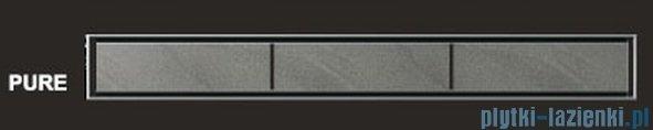 Wiper Odpływ liniowy Premium Pure 80cm z kołnierzem mat PU800MPS100