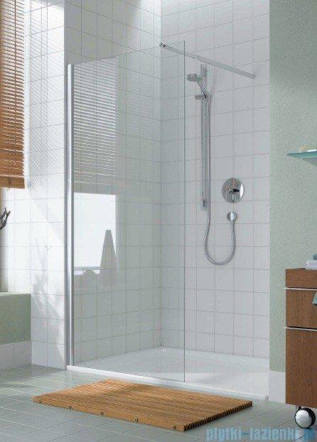 Kermi Atea Ściana boczna wolno stojąca, szkło przezroczyste, profile białe 90cm ATTWF090182AK