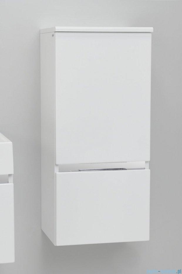 Antado Cantare Słupek niski wiszący z szufladą 40x33x88  prawy, biały połysk FSM-394GTR-47/47