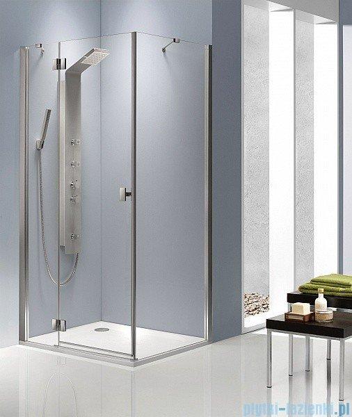 Radaway Kabina prysznicowa Essenza KDJ 90x80 lewa szkło brązowe + brodzik Doros D + syfon 32847-01-08NL