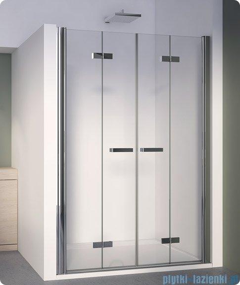 SanSwiss Swing Line F SLF2 Drzwi składane 180cm profil biały SLF218000407
