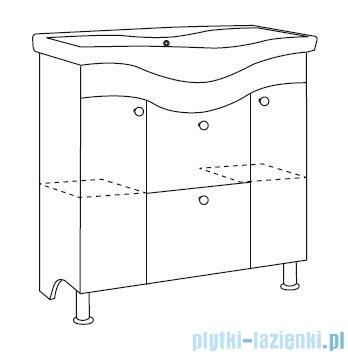 Antado Meva szafka podumywalkowa stojąca 75x34x81 biały połysk BWM-140/80/2GT-WS