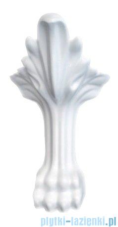 Besco Otylia 170x77cm Wanna owalna Retro biało-czarna+nogi białe