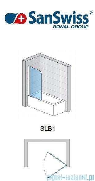 SanSwiss Swing Line SLB1 Parawan 1-częściowy 50-100cm profil połysk Lewy SLB1GSM15007