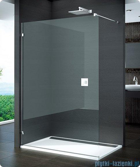 SanSwiss Pur PDT4 Ścianka wolnostojąca 100-160cm profil chrom szkło Krople Lewa PDT4GSM41044