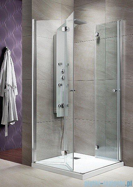 Radaway KDD-B kabina prysznicowa Eos 90x90 szkło przejrzyste + brodzik Delos C + syfon 37303-01-01N