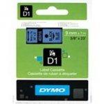 Dymo taśma do drukarek etykiet, D1 40916 czarny/niebieski 7m/9mm