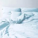 Pościel bawełniana HOP DESIGN PURE - niebieska