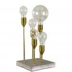 Lampa stołowa z betonu - Husby - złota