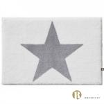 Dywanik łazienkowy Rhomtuft - STAR - szaro-biały