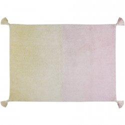 Dywan do prania w pralce - Lorena Canals OMBRE - kremowo-różowy