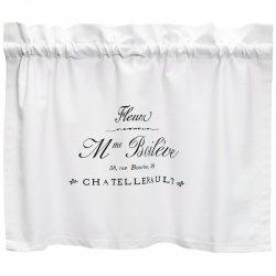Zazdrostki French Home - Madame - białe - 70 cm