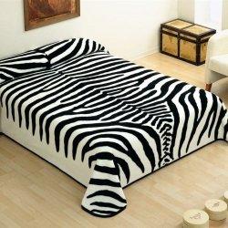 Narzuta Koc Piel - Zebra 220x240 cm - biało-czarna