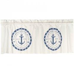 Zazdrostki French Home - Anchor - białe - 120 cm