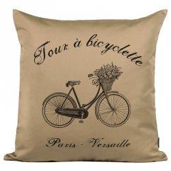 Poduszka French Home - Bicyclette - beżowa