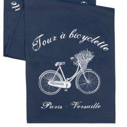 Bieżnik French Home - Bicyclette L - granatowy