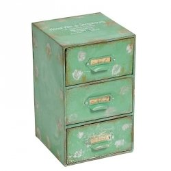 Pojemnik z szufladami - Belldeco Hotel Ville - zielony